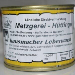 Dose Leberwurst