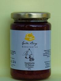 Sauerkirsche Walnuss Fruchtaufstrich