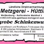 Grobe Schinkenwurst