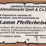 Lamm Pfefferbeiser