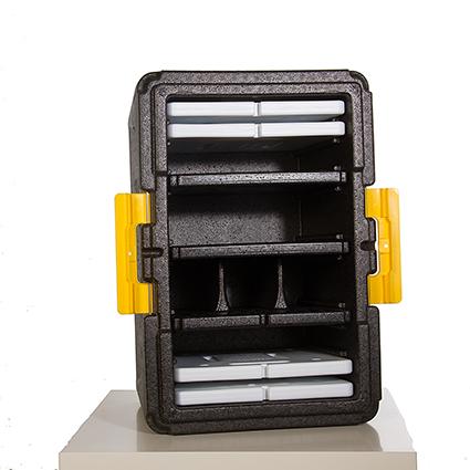 Multibox mit Akkus und Trennelementen