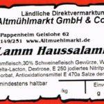 Lammsalami Etikett