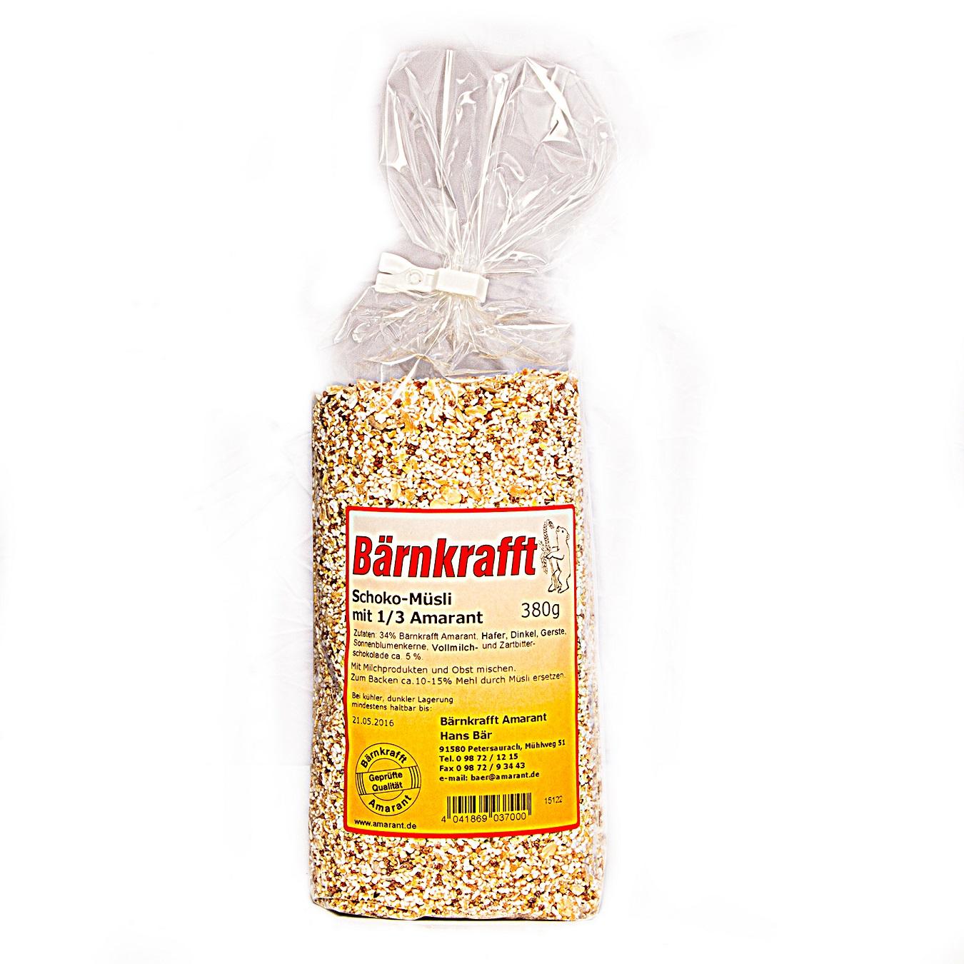 Schoko-Müsli mit Amarant