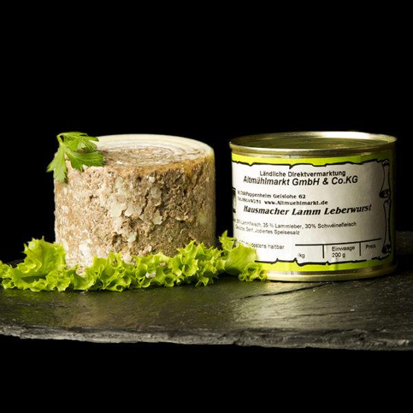 Lammleberwurst Dosenwurst